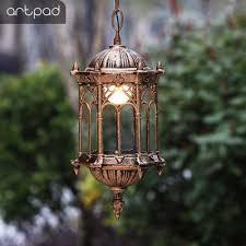 retro iron pendant light indoor lamp