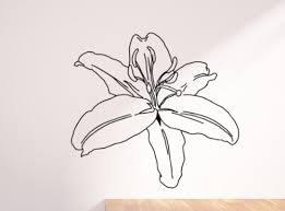 Lily Flower Art Lilium Botany 45 Black Wall Decal Decor Ivy Bee Designs Online Store Powered By Storenvy