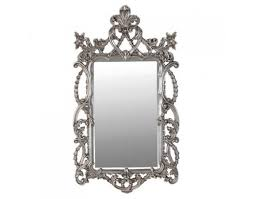 large silver baroque mirror ornate