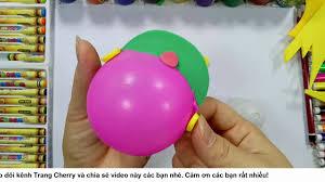 11 Đồ chơi mầm non - Cách làm một chiếc mũ bảo hiểm từ quả bóng và ...