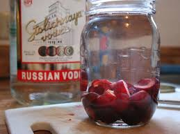homemade infusions cherry vodka and