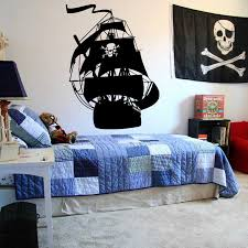 Ship Pirates Wall Decal Cartoon Ship Pirates Hook Wall Sticker Vinyl Mural For Boys Room Teenager Room Decor X102 Wall Stickers Aliexpress