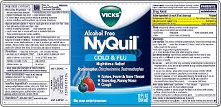 nyquil cold and flu nighttime relief