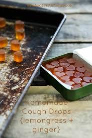 homemade cough drops lemongr ginger