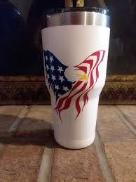 American Flag Decal American Bald Eagle Stars And Stripes Etsy American Flag Decal Flag Decal Tumbler Decal
