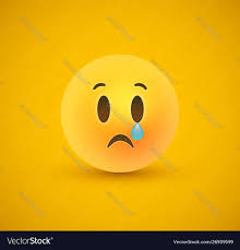 crying face in 3d background vector image