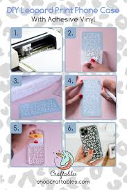 Diy Leopard Print Phone Case With Adhesive Vinyl