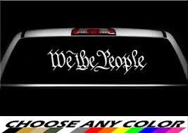 We The People Sticker America Patriotic Usa Freedom Liberty Vinyl Window Decal Ebay