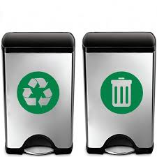 Recycle And Trash Sign Decal Trash Can Vinyl Art Sticker Decoration Recycle Bin Container Green Decal Garbage Art Decor Wall Stickers Aliexpress