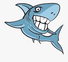 Jpg Library Library Shark Teeth Clipart - Cartoon Shark With Big ...