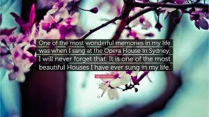 """nana mouskouri quote """"one of the most wonderful memories in my"""
