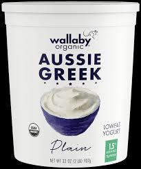 plain organic greek low fat yogurt 32oz