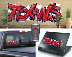 Houston Texans Decal Etsy