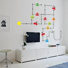 Pacman Wall Stickers Pac Man Decorative Wall Decals Cartoon Wallpaper Kids Party Decoration Christmas Wall Art Exclusive Sale Big Wall Decals Big Wall Stickers From Wowalldecor 3 02 Dhgate Com