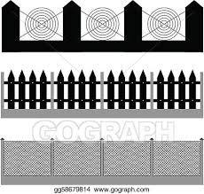 Vector Art Fence Silhouette Vector Clipart Drawing Gg58679814 Gograph