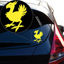 Amazon Com Chocobo Final Fantasy 7 Decal Sticker For Car Window Laptop And More 806 6 X 4 2 Yellow Kitchen Dining