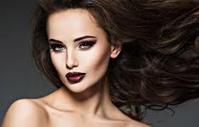 wallpaper face model hair