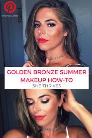 golden bronze summer makeup tutorial