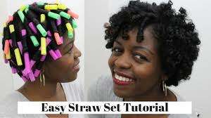 straw set curls natural hair 3c 4a