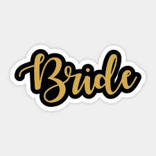 Bride Squad Bride Sticker Teepublic
