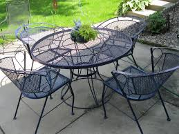 contemporary wrought iron table and
