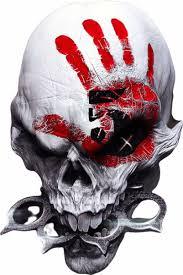 Five Finger Death Punch Skull Decal Sticker 01