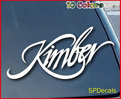 Amazon Com Kimber Firearms Car Window Vinyl Decal Sticker 8 Wide Color White Kitchen Dining