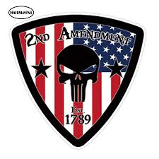 Hotmeini 13cm X 13cm Car Styling Amendment Punisher Skull Flag Usa Car Sticker Gun Control Nra Pair Waterproof Accessories Car Stickers Aliexpress