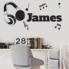 Custom Headphone Name Vinyl Wall Stickers Nursery Bedroom Home Decor Kids Room Decoration Diy Decal Wallpaper Wall Stickers Children Wall Stickers Decals From Joystickers 11 75 Dhgate Com