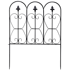 32in X 10ft Folding Decorative Garden Fence Set Of 5 Coated Metal Panels Best Buy Canada