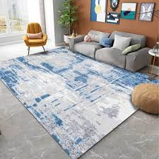 Modern Non Slip Floor Mat Abstract Gray Blue Pattern Crystal Velvet Carpet Livingroom Bedroom Sofa Chair Kids Play Game Area Rug Buy At The Price Of 9 96 In Aliexpress Com Imall Com