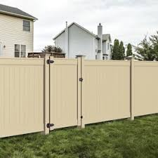 Freedom Ready To Assemble Emblem 6 Ft H X 8 Ft W Sand Vinyl Flat Top Fence Panel Lowes Inventory Checker Brickseek