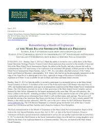 Event Advisory - Mare Island Shoreline Heritage Preserve
