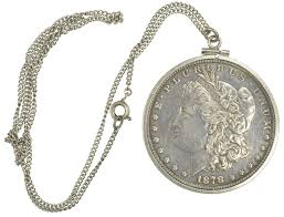 very cool us coin necklace 1878 s