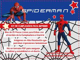 Spiderman Kit De Cumpleanos Para Imprimir Spiderman Imprimir