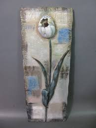 small resin 3d flower wall art piece