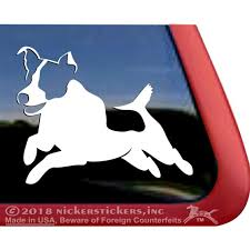 Jumping Jack Russell Terrier High Quality Vinyl Jrt Dog Window Decal Walmart Com Walmart Com
