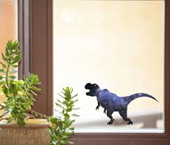 The Decal Store Com By Yadda Yadda Design Co Clr Wnd Cosmic T Rex Tyrannosaurus Galaxy Dinosaur See Through