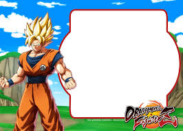 Free Dragon Ball Fighter Z Invitation Template Convite
