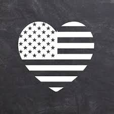 American Flag Heart Decal Patriotic Usa Pride Vinyl Sticker For Car Or Laptop Ebay