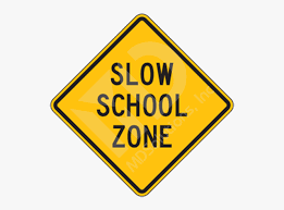 Picture Black And White Library S Slow Sign - School Zone Signs , Free  Transparent Clipart - ClipartKey