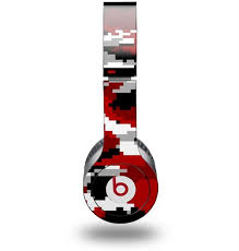 Beats Solo Hd Skins For Beats By Dr Dre Monster Wraptorcamo Digital Camo Red Wraptorskinz