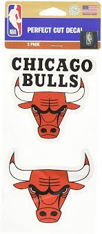 Amazon Com Wincraft Nba Chicago Bulls Perfect Cut Decal Set Of 2 4 X 4 Automotive Decals Sports Outdoors