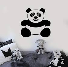 Vinyl Wall Decal Panda Funny Kids Room Animal Stickers Mural Unique Gi Wallstickers4you