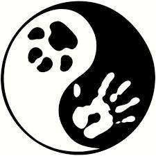 Yin Yang Paw Print Car Vinyl Sticker Decal Ecatshop