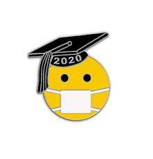 Class of Emoji Graduate with Face Mask (COV-GRD) - PinCentives