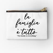 La famiglia e tutto, The family is everything IN ITALIAN,