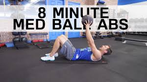 8 minute med ball ab workout you