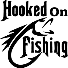 Hooked On Fishing Decal Sticker Hooked On Fishing Thriftysigns