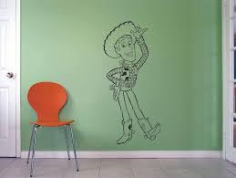 Amazon Com Toy Story Sheriff Woody Cowboy Doll Cartoon Wall Sticker Art Decal For Girls Boys Kids Room Bedroom Nursery Kindergarten House Fun Home Decor Stickers Wall Art Vinyl Decoration Size 30x22 Inch